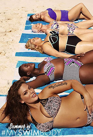 Ashley Graham for Swimsuits for All.