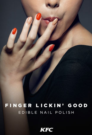 KFC Releases Two Edible Nail Polishes