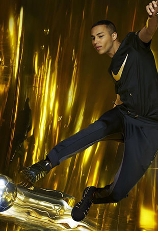 Olivier Rousteing announces his soccer-themed collaboration with NikeLab.
