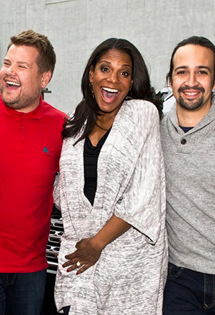 Carpool Karaoke reached new, masterful heights when Broadway legends Lin-Manuel Miranda, Audra McDonald, Jane Krakowski and Jesse Tyler Ferguson hopped in James Corden's minivan.