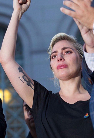 Producer Ryan Murphy called upon 49 of his famous friends, including Lady Gaga, to help create a heart-wrenching video commemorating the victims of the Orlando shootings.