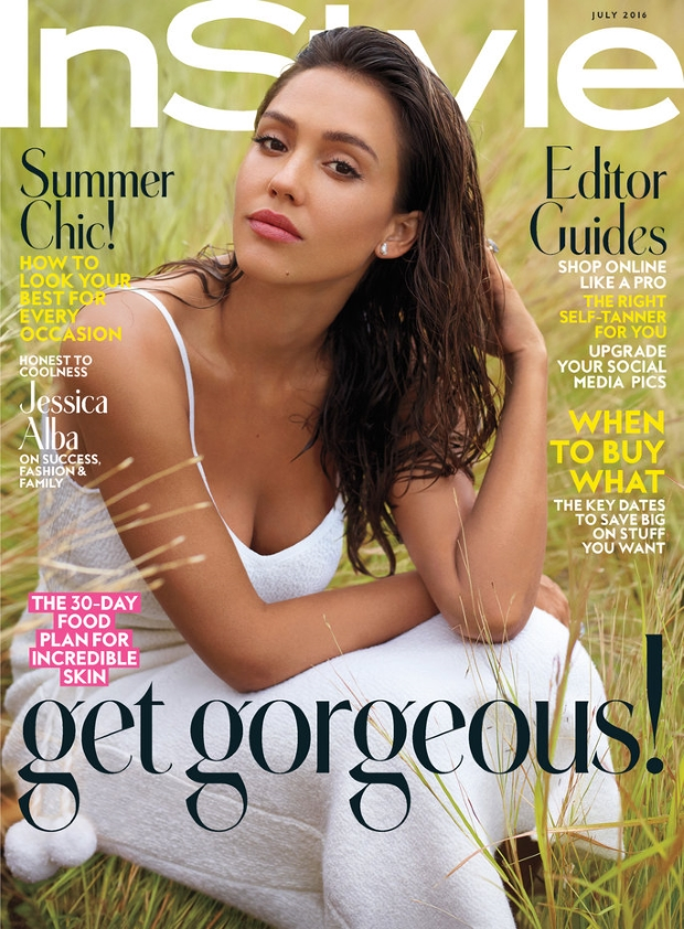 US InStyle July 2016 : Jessica Alba by Thomas Whiteside