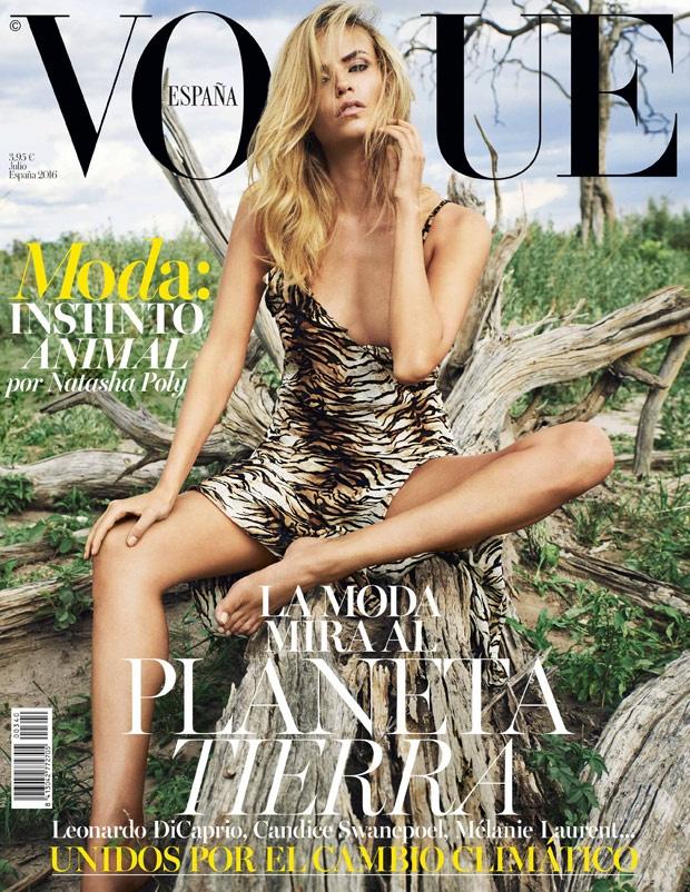Vogue España July 2016 : Natasha Poly by Nico Bustos