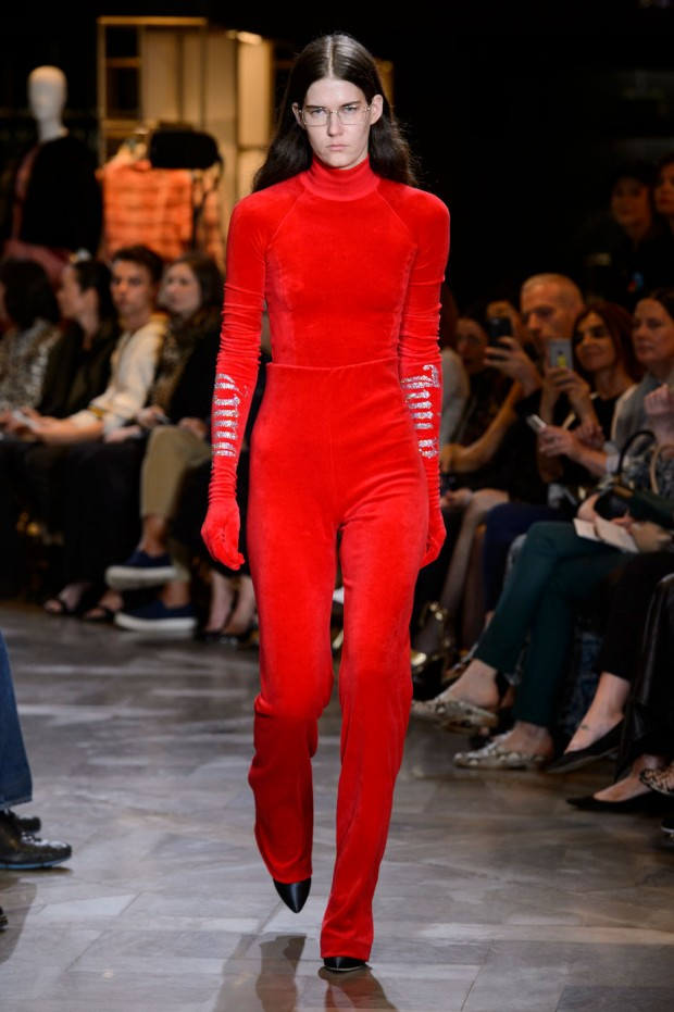 Vetement's take on Juicy Couture's iconic tracksuit turned heads at Paris Couture Week.