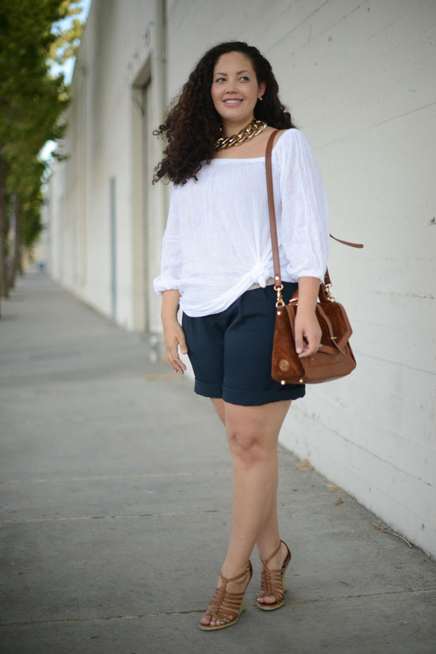 Tanesha Awasthi white top and shorts