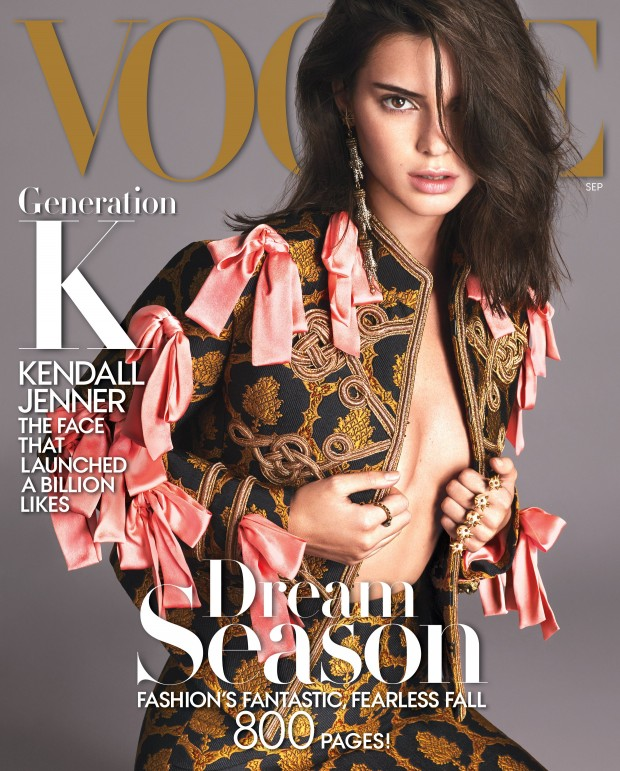 Kendall Jenner covers Vogue's September 2016 issue.