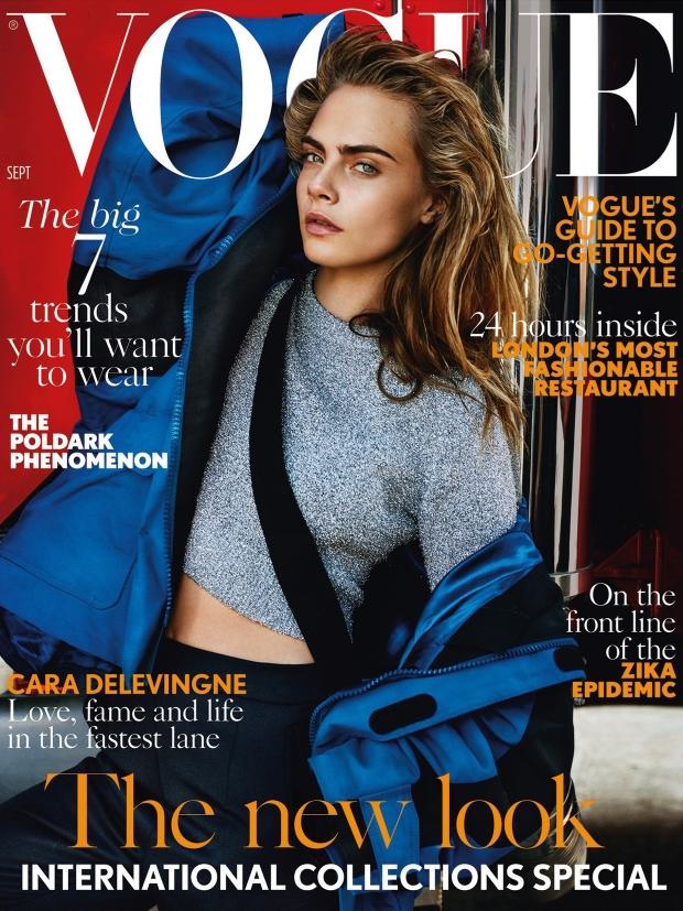 UK Vogue September 2016 : Cara Delevingne by Mario Testino