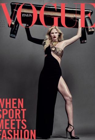 Vogue Italia August 2016 : Lara Stone by Steven Klein