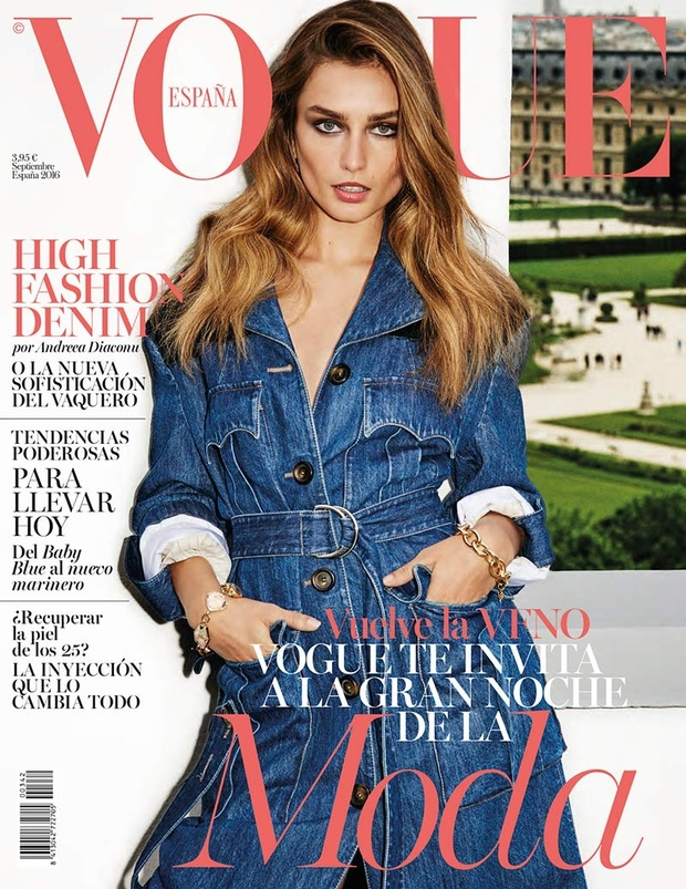 Vogue España September 2016 : Andreea Diaconu by Ezra Petronio