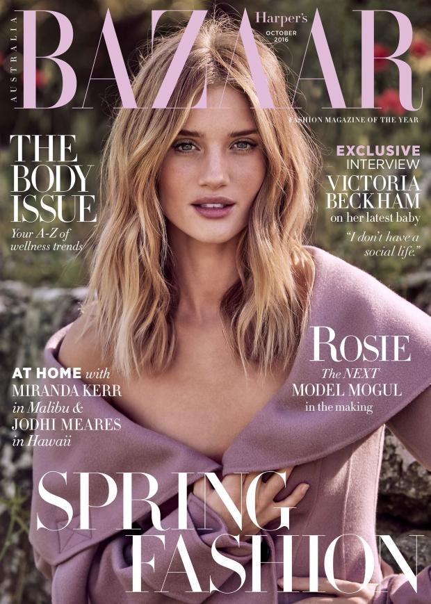 Harper's Bazaar Australia October 2016 : Rosie Huntington-Whiteley by Pamela Hanson