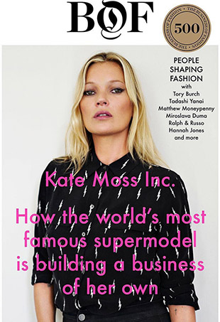 In a recent interview with Business of Fashion, Kate Moss announced her latest endeavor — her own talent agency.