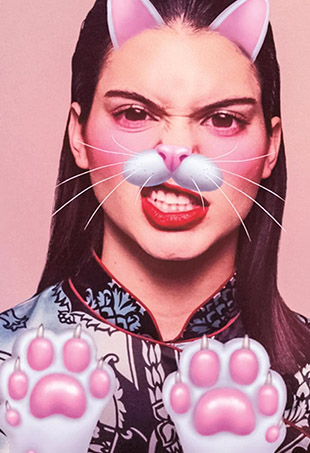 In the October edition of Garage Magazine, Kendall Jenner offers up her advice on dealing with cyberbullies and gets wacky with custom Snapchat filters.