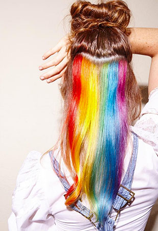 Secret rainbow hair is now the Internet's worst-kept beauty secret.