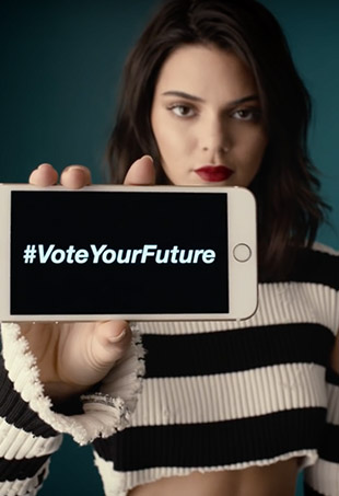 "Kendall Jenner, Zendaya, Julia Roberts, Olivia Wilde, Emma Stone and more style stars lent their voices to the ""Vote For Your Future"" initiative."
