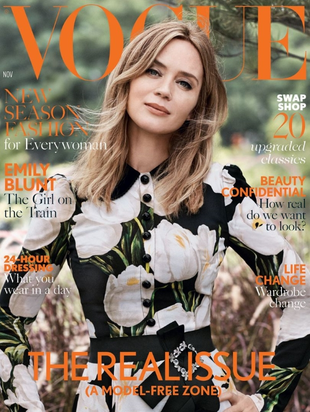UK Vogue November 2016 : Emily Blunt by Josh Olins