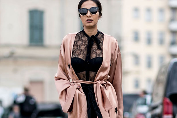 a227ea39a5 18 Street Style Ways to Wear Underwear as Outerwear - theFashionSpot