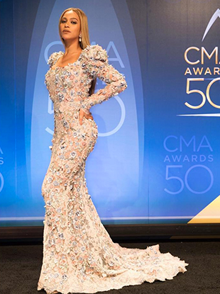 Beyoncé at the 50th Annual Country Music Association Awards.