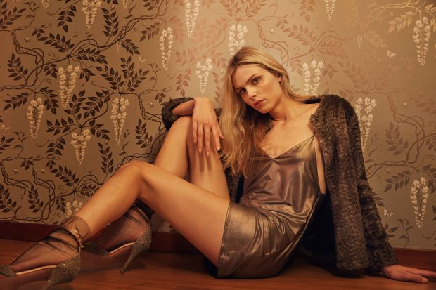 Andreja Pejic for Reformation's holiday 2016 campaign.