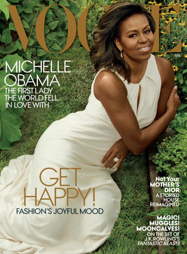 US Vogue December 2016 : Michelle Obama by Annie Leibovitz