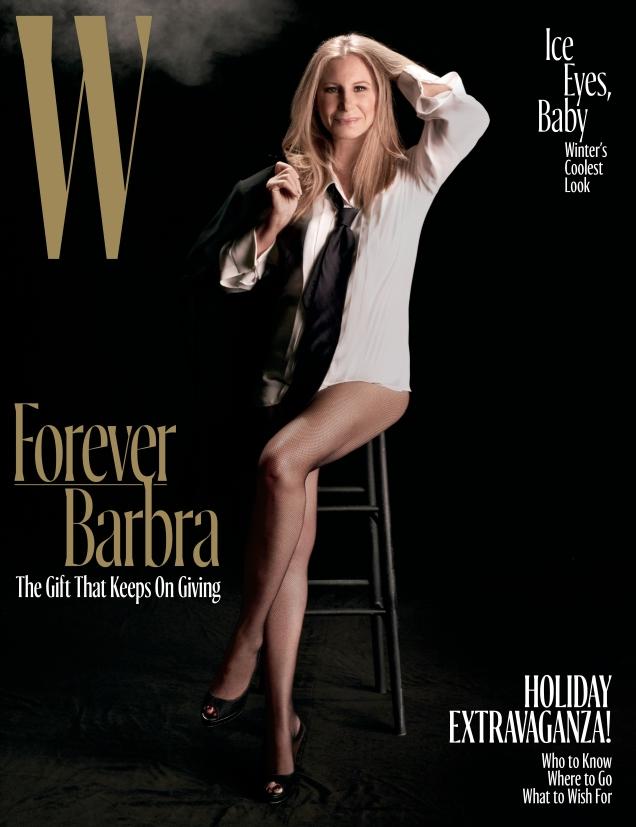 W December 2016 : Barbra Streisand by Steven Meisel