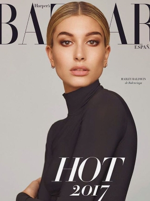 Harper's Bazaar España January 2017 : Hailey Baldwin & Jon Kortajarena
