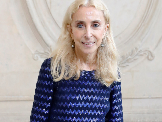 Fashion editor Franca Sozzani poses before the Christian Dior 2017 Spring/Summer ready-to-wear collection fashion show, on September 30, 2016 in Paris