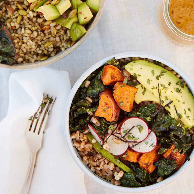 Green Grain Bowls _ Sweet Potato and Avocado Grain Bowls_credit Brigitte Sire
