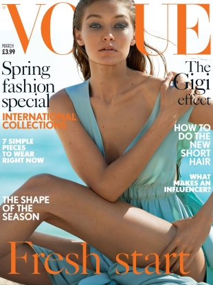 UK Vogue March 2017 : Gigi Hadid by Mario Testino