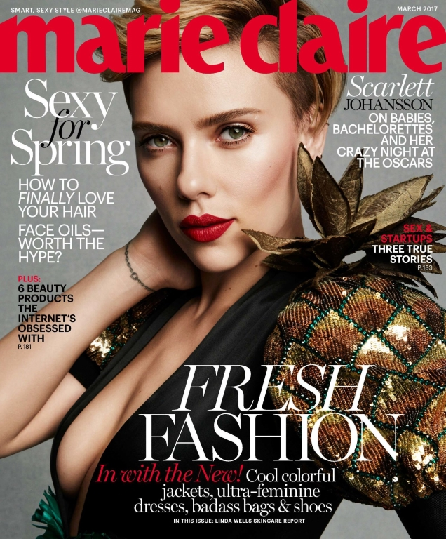 US Marie Claire March 2017 : Scarlett Johansson by Tesh