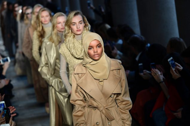 Halima Aden at Max Mara Fall 2017
