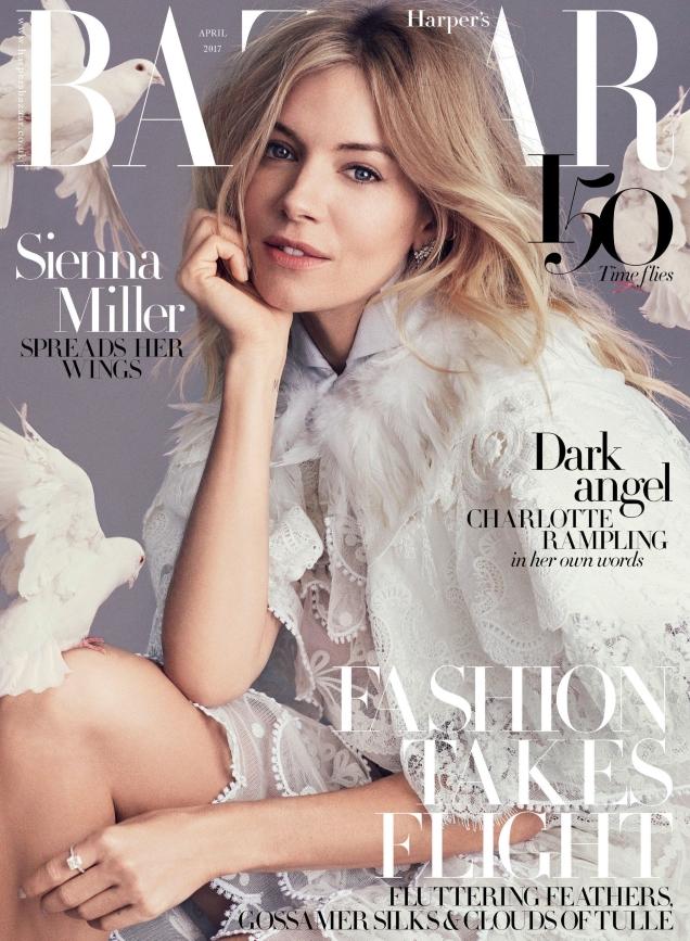 UK Harper's Bazaar April 2017 : Sienna Miller by Alexi Lubomirski