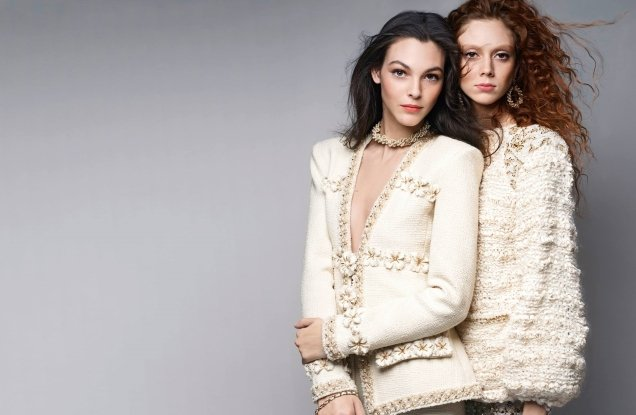 Chanel Pre-Fall 2017 : Natalie Westling & Vittoria Ceretti by Karl Lagerfeld