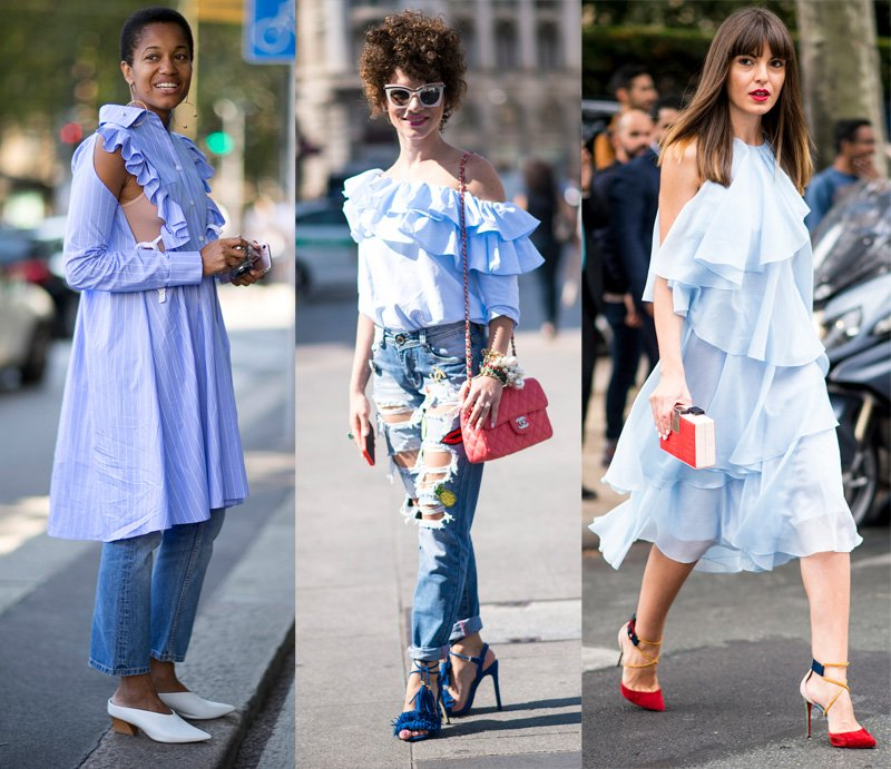 Street style: ruffles worn at fashion week