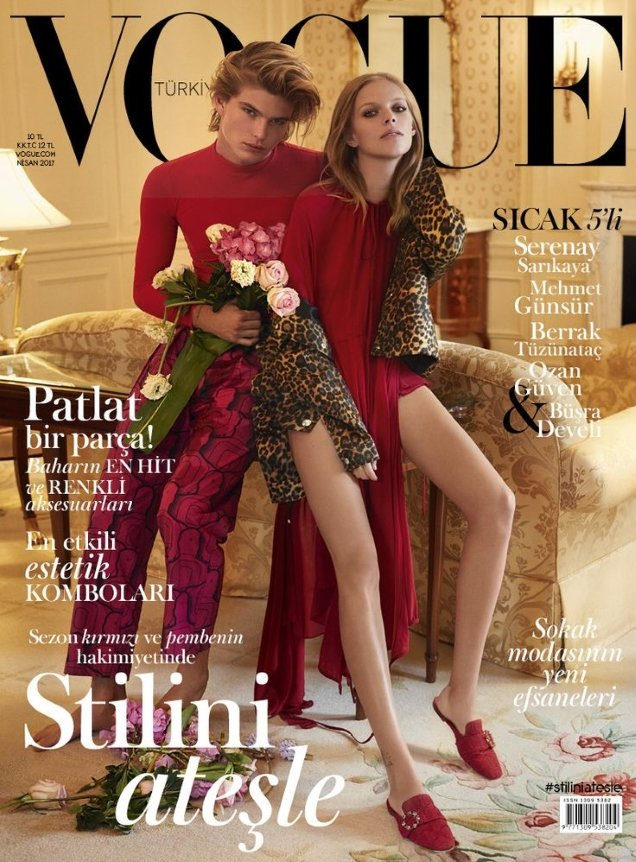 Vogue Turkey April 2017 : Lexi Boling & Jordan Barrett by Sebastian Faena