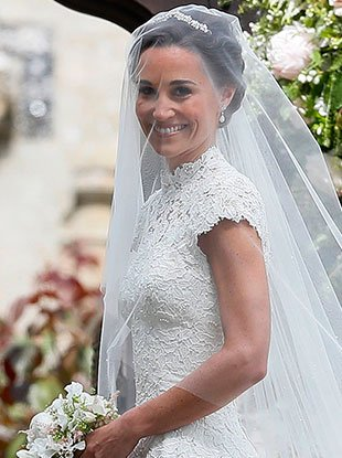 Pippa Middleton in her wedding dress.