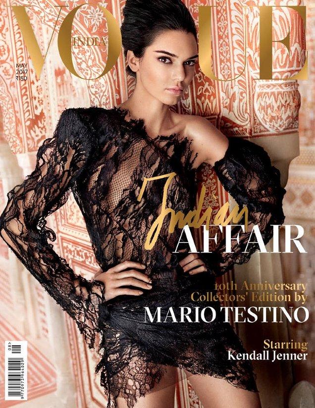 Vogue India May 2017 : Kendall Jenner by Mario Testino