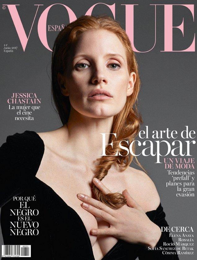 Vogue España June 2017 : Jessica Chastain by Mario Sorrenti