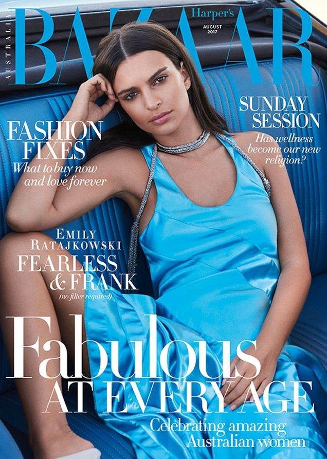 Harper's Bazaar Australia August 2017 : Emily Ratajkowski by Pamela Hanson