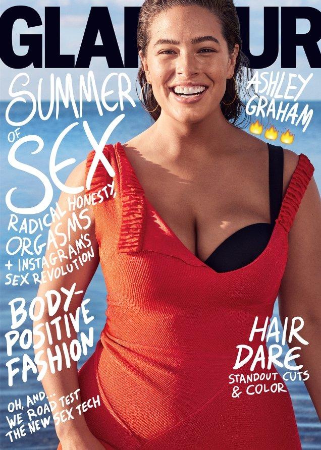 US Glamour July 2017 : Ashley Graham by Nathaniel Goldberg