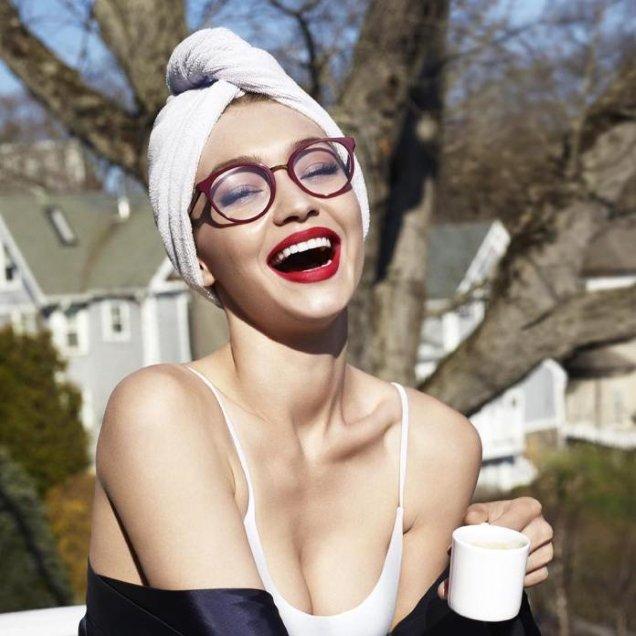 677c34cd3a Gigi Hadid Stars in Vogue Eyewear s  Cheap and Corny  Fall 2017 Ad Campaign