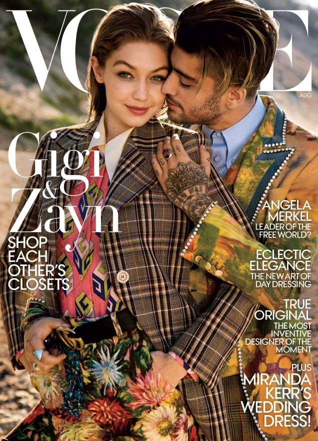 US Vogue August 2017 : Gigi Hadid & Zayn Malik by Inez & Vinoodh