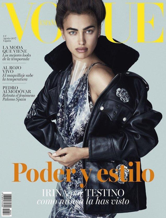Vogue Espana August 2017 : Irina Shayk by Mario Testino