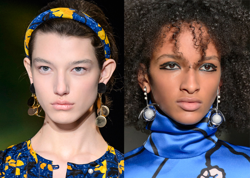 statement earrings on the Fall 2017 runway at Altuzarra and Marni