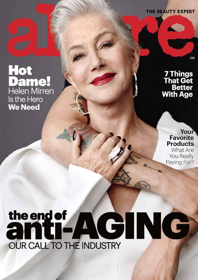 Allure September 2017 : Helen Mirren by Scott Trindle