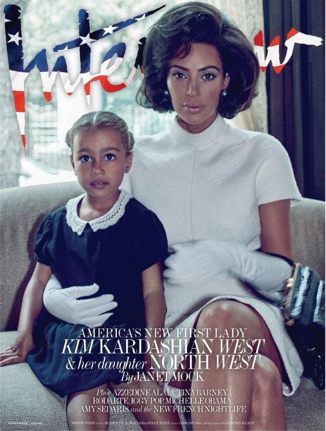 Interview September 2017 : Kim Kardashian & North West by Steven Klein