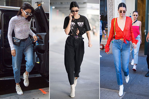 Kendall Jenner, mom jean enthusiast.