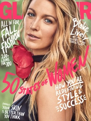 US Glamour September 2017 : Blake Lively by Nathaniel Goldberg