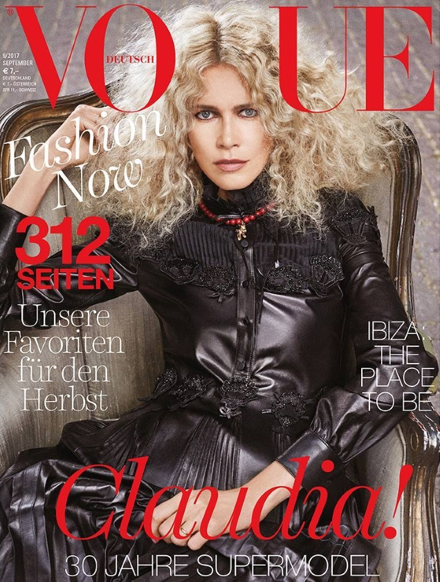 Vogue Germany September 2017 : Claudia Schiffer by Giampaolo Sgura