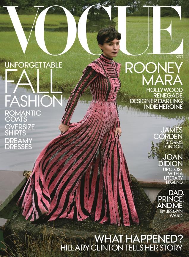 US Vogue October 2017 : Rooney Mara by Annie Leibovitz