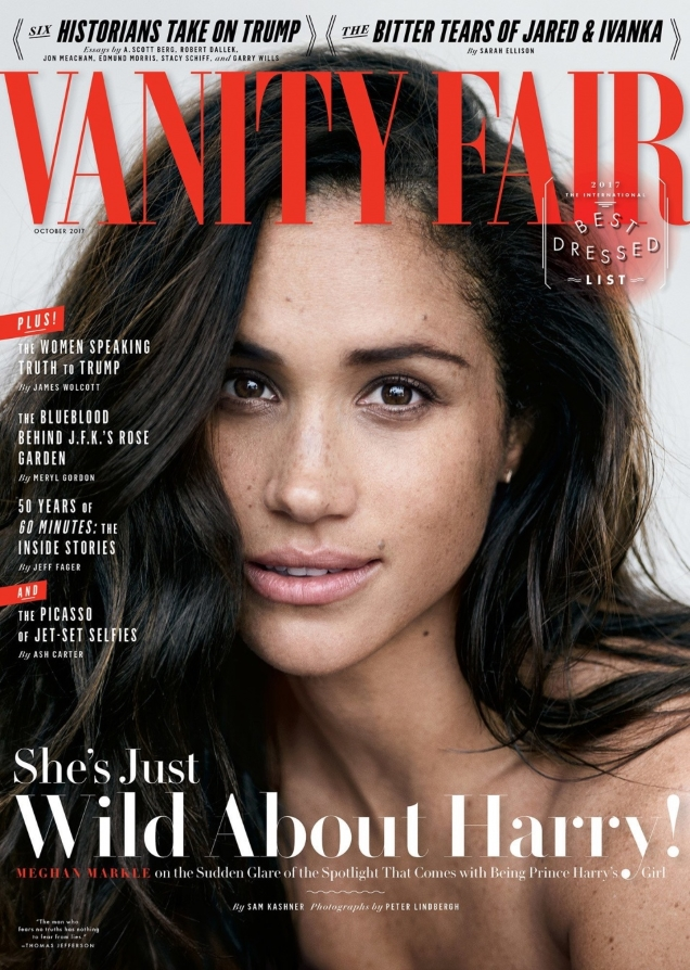 Vanity Fair October 2017 : Meghan Markle by Peter Lindbergh